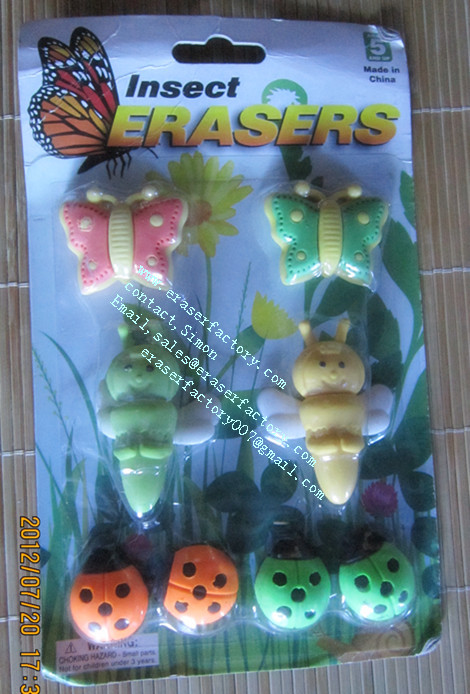 LXB37  Insect Erasers