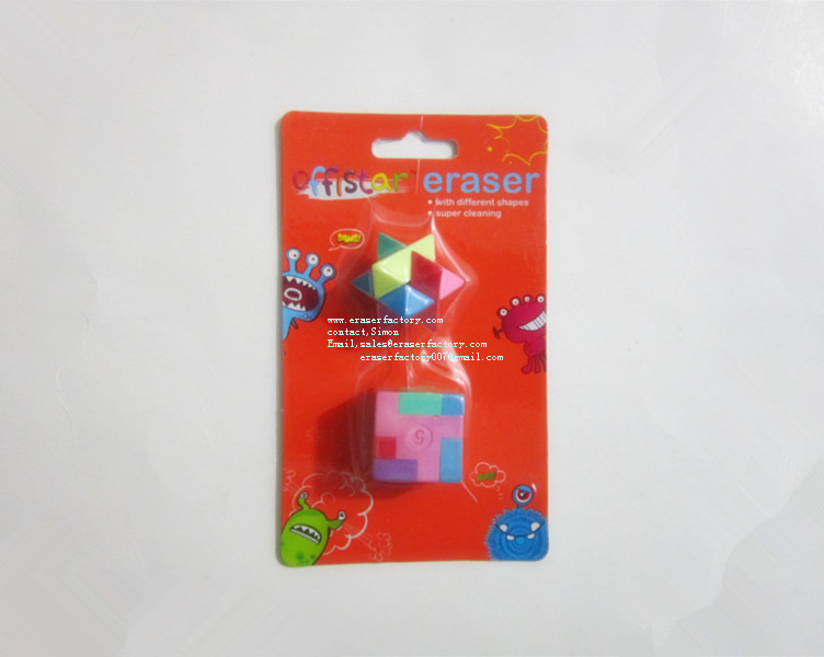 LX342  Puzzle Erasers for Tapping Children Mind
