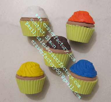 LXF45   Cuppy cake promotional erasers