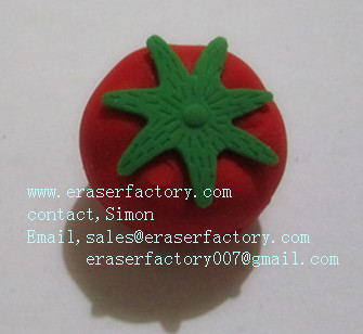 LXF15   tomato promotional erasers