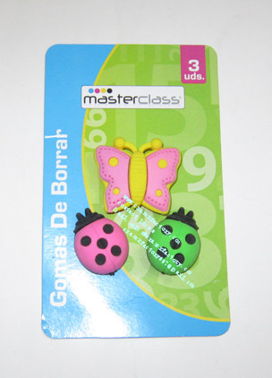 LXB79 Insect  Erasers Set