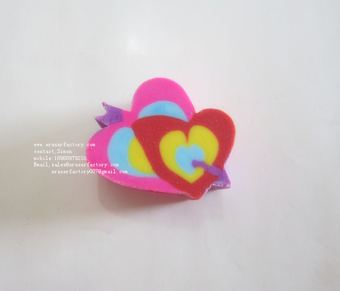 LXU133  Cupid's arrow heart eraser